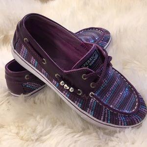 Sherry Top-Slider, purple sparkle shoes size 5 M